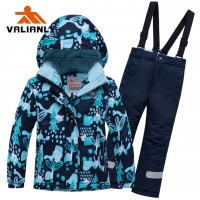 Mėlynas 2 dalių žieminis VALIANLY kombinezonas 104-128 cm