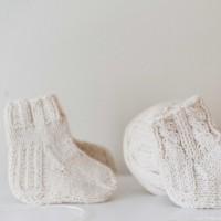Vilaurita vilnonės kojinės kūdikiui
