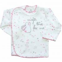 """Marškinėliai - siaustinukas kūdikiui """"Magic"""" balta/rausva"""