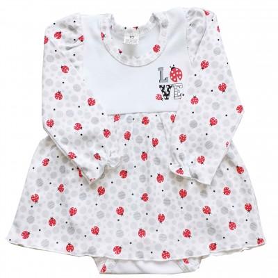 Smėlinukas-suknelė Boružėlė (balta/balta)